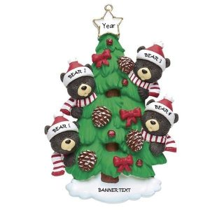 Bear Tree Christmas Ornament