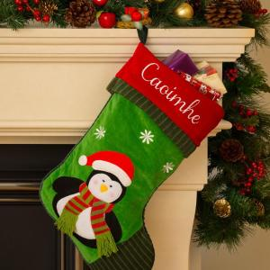 Personalised Christmas Stocking - Penguin