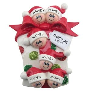 Glitter Gift Family 6 Personalised Christmas Ornament 1