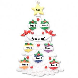 White Tree 7 Personalised Christmas Ornament