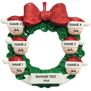 Button Wreath 6 Personalised Christmas Ornament