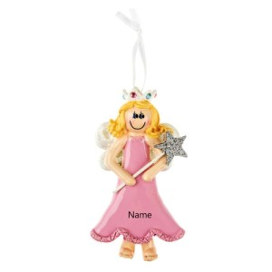 Blonde Princess Personalised Christmas Ornament