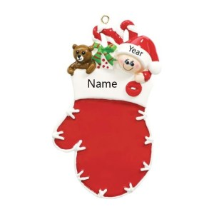 Baby Mitten Personalised Christmas Ornament
