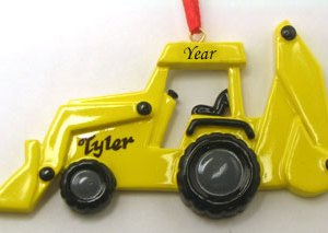 Bulldozer Personalised Christmas Ornament