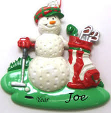 Golf Ball Golfer Personalised Christmas Ornament
