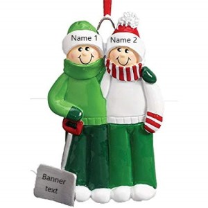 Personalised Snow Shovel Couple Christmas Ornament