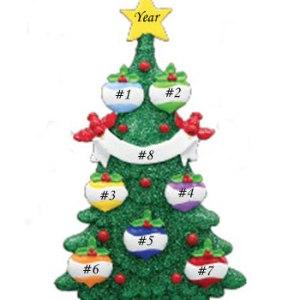 Glitter Green Christmas Tree 7
