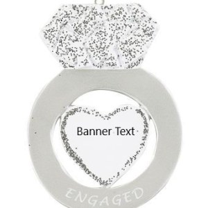 Engagement Ring Personalised Christmas Ornament