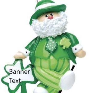 Irish Santa Personalised Christmas Ornament