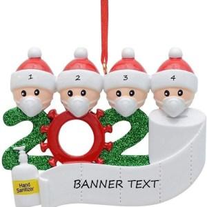 Quarantine Family 4 Christmas Ornament