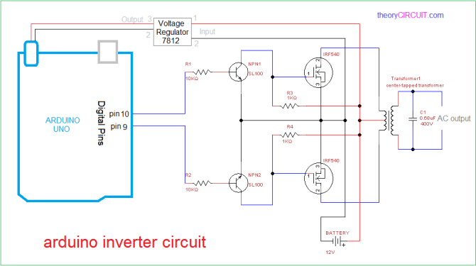 arduino inverter circuit