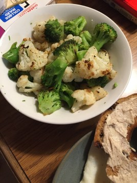 and some broccoli and cauliflower, roasted of course.