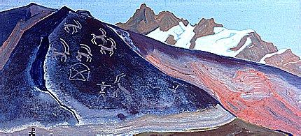 "Nicholas Roerich -""Rocks of Lahul"""