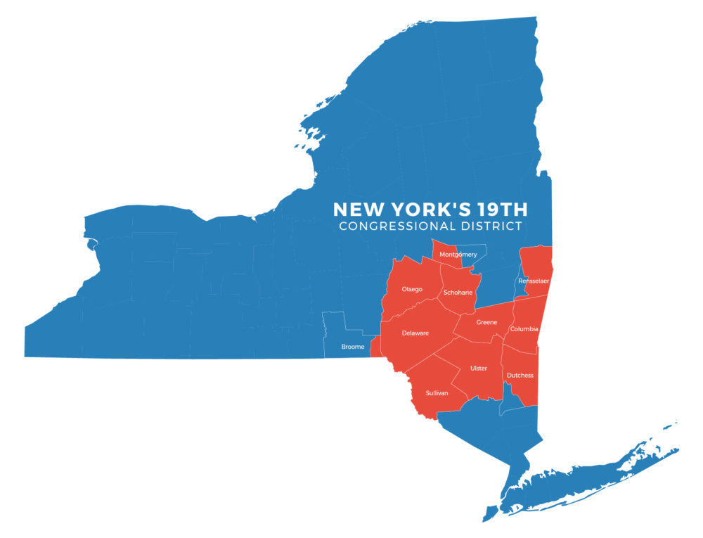 Map Of New York 19th Congressional District.Congressional Straw Poll Hints At Who S Ahead In Ny 19 The Other