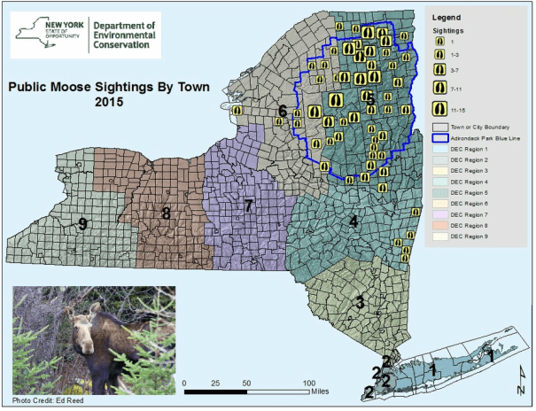 Map Of New York Hudson Valley.Moose In The Hudson Valley The Other Hudson Valley