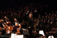Tehran, Iran - Shahrdad Rohani conducts orchest in Tehran 2015 Jan 06