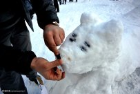 Iran Dizin Ressort in Alborz Mountains Winter Snow Snowman 06