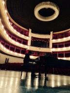 Joja Wendt practicing in Vahdat Hall