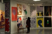 Contemporary posters by Swiss graphic designers exhibition - Iranian Artists Forum (IAF) in Tehran, 2015