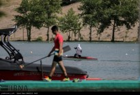 Tehran, Iran - Iran's rowing team training at Lake Azad Sports Complex 10