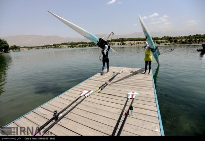 Tehran, Iran - Iran's rowing team training at Lake Azad Sports Complex 15