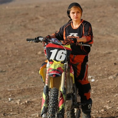 Behnaz Shafiei - Iran woman professional motocross 1