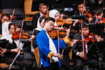 Tehran Symphony Orchestra and China Philarmonic Orchestra performing together on August 2015 in Tehran, Iran 14
