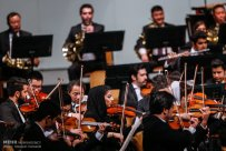 Tehran Symphony Orchestra and China Philarmonic Orchestra performing together on August 2015 in Tehran, Iran 9