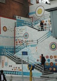 Mehdi Ghadyanloo - 2010 - Ceramic Mosaic - Valiasr Stairs - 00