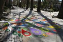 """Baharestan"" - Urban art event to welcome spring in Tehran, Iran - Photo credit: zibasazi.ir"