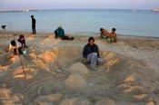 0Hormozgan, Iran - Kish Island - Sand sculptures 61