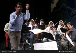 Orchestre de l'Alliance rehearsing in Tehran, Iran (2016) - Photo credit: Javad Hadi / Fars News Agency