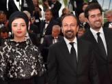 Iranian Film 'The Salesman' (Forushande) by Asghar Farhadi at Cannes 2016 - Closing Ceremony - Red carpet - Taraneh Alidoosti, Asghar Farhadi and Shahab Hosseini
