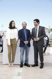 Iranian Film 'The Salesman' (Forushande) by Asghar Farhadi at Cannes 2016 - Photocall - Taraneh Alidoosti, Asghar Farhadi and Shahab Hosseini