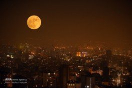 Supermoon in Teheran, Iran (Photo credit: Abolfazl Mahrokh / ANA)