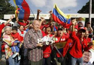 Chavez supporters outside his Caracas hospital