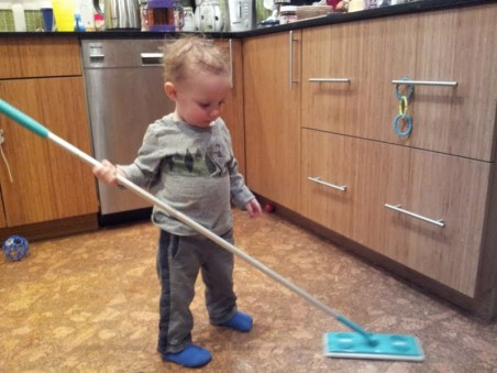 Haven't even reached my 2th birthday, and already getting hammered with chores. Where is the love?