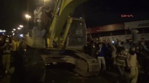 According to the BBC, this is a bulldozer making its way toward the PM's office