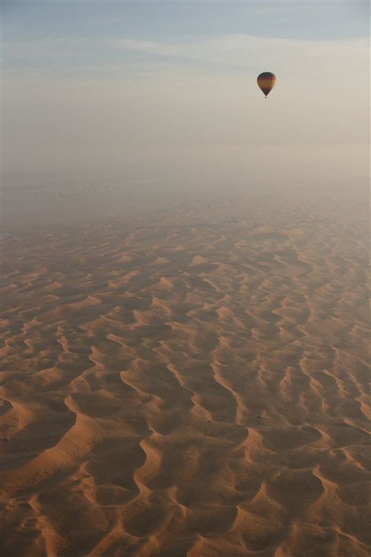 The other balloon and the vast desert