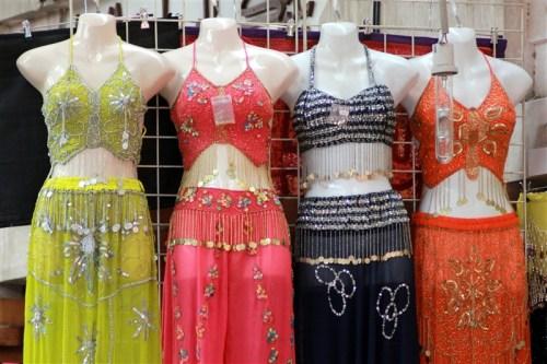 At the textile souk