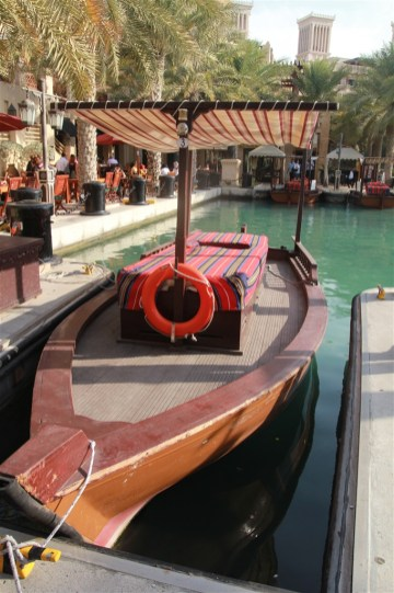 Madinat Jumeirah - one of the abras (boats) for the use of guests