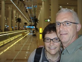 Here we are at Dubai Airport