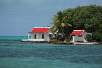 A tiny island, the house is some lucky person's holiday home.