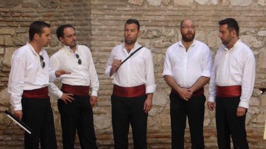 These guys sang traditional Croation a capella - called Klapa - wonderful!