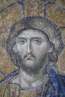 Byzantine mosaic detail - Jesus