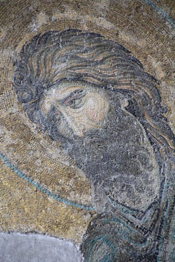 Byzantine mosaic detail - John