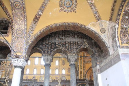 Ornate mosaics and plasterwork