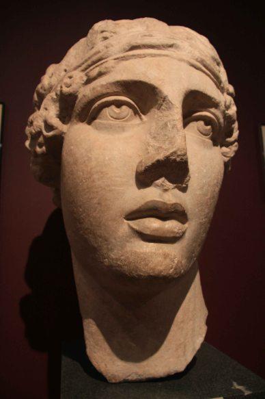 Roman sculpture - the head of the poetess Sappho