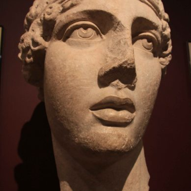 Roman sculpture - the head of the poetess Sappho