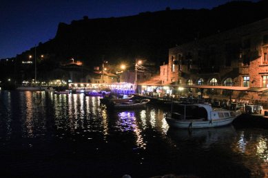 Assos Harbour by night